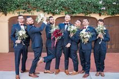 Winter garden wedding with shades of marsala, berry & burgundy. The groomsmen :)