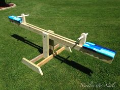 DIY Teeter Totter See Saw Made from scrap wood