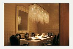 A spectacular rectangular chandelier