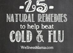 25 Natural Remedies for Cold and Flu