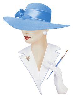 Alfabeto animado Dama Elegante con sombrero celeste. | Oh my Alfabetos!