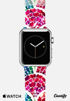 Floral Scales - Shimmering Stained Glass Window Effect Flowers Apple Watch Band case by Anneline Sophia | Casetify