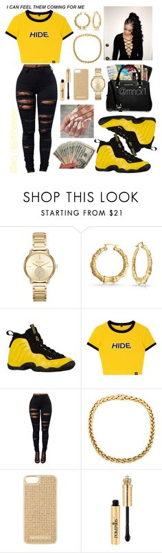 """Bodak Yellow X Cardi B ♥"" by xo-destineeee ❤ liked on Polyvore featuring MICHAEL Michael Kors and NIKE"