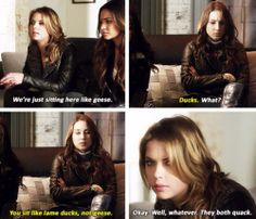Hahaha love these two! Spencer and Hanna Pretty Little Liars