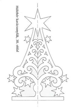 Xmas tree pattern for scroll saw