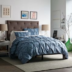 Organic Cotton Pintuck Duvet Cover and Shams