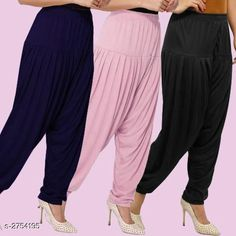 Ethnic Bottomwear - Patiala Pants Fabulous Viscose Women's Patiala Pants Combo Fabric: Viscose Waist Size : XL - Up To 24 in To Up To 32 in XXL - Up To 26 in To Up To 34 in Length: Up To 40 in Type: Stitched Description: It Has 3 Pieces Of Women's Patiala Pants Pattern: Solid Country of Origin: India Sizes Available: XL, XXL   Catalog Rating: ★4.1 (838)  Catalog Name: Kamal Fabulous Viscose Women's Patiala Pants Combo Vol 1 CatalogID_373404 C74-SC1018 Code: 974-2754195-4221