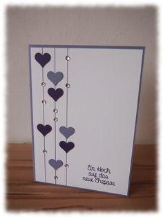 Result For Wedding Congratulations Card Fun ideas for congratulations Wedding Cards Handmade, Handmade Birthday Cards, Greeting Cards Handmade, Handmade Engagement Cards, Simple Handmade Cards, Love Cards, Diy Cards, Good Luck Cards, Tarjetas Diy