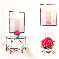 French Style Foyer.  Sketch.  SL Designs™