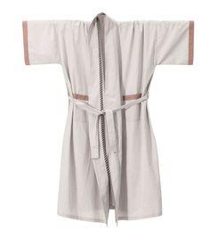 Bliss Kimono Bath Robe in Light Grey design by Ferm Living