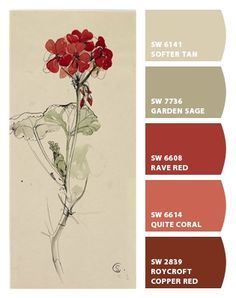 Color schemes - Color Inspiration - Paint colors from Chip It! by Sherwin-Williams Paint Color Schemes, Colour Pallette, Color Combos, Paint Combinations, Interior Paint Colors, Paint Colors For Home, Paint Colours, Wall Colors, House Colors