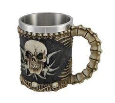 1 X Gothic Tribal Skull Tankard Coffee Mug Cup Creepy #PrivateLabel