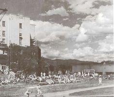 Oregon varsity baseball game at Howe Field 1942.  From the 1942 Oregana (University of Oregon yearbook).  www.CampusAttic.com
