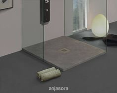 Singular Grey shower #tray from #Onarea collection.