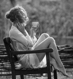 Morning coffee....black.