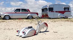 Perfect Matches.... I want to do this with my 68 C10--- Camper and Trike all painted to match....... yea! Not this paint job.. but yea and some pin stripping !W.N.