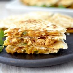is the Best Chicken Quesadilla Recipe EVER! It's a unique, quick, easy, delicious dinner recipe that is ready in under 30 minutes and loaded with sneaky veggies! Chicken Quesadillas, Mexican Food Recipes, Ethnic Recipes, Delicious Dinner Recipes, Chipotle, Food Inspiration, Supreme, Chicken Recipes, Easy