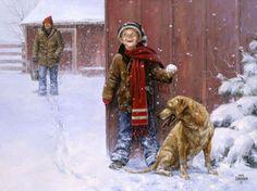 Christmas-Snowball Fight