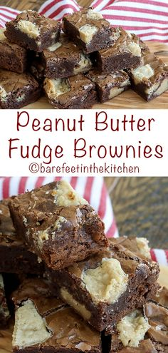 Everyone loves these rich chocolate brownies filled with chunks of peanut butter fudge! Chocolate Peanut Butter Smoothie, Peanut Butter Bites, Apple And Peanut Butter, Coconut Desserts, Peanut Butter Desserts, Peanut Butter Brownies, Brownie Cake, Fudge Brownies, Chocolate Brownies