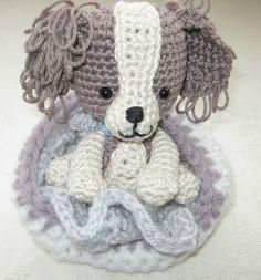 Cavalier King Charles puppy amigurumi #crochet #crafts #amigurumi #puppy #cotton