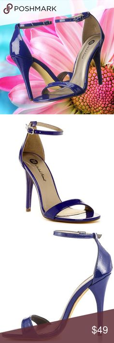 Michael Antonio Women's Jaxine Patent 15 Heel Shoe ✔This Michael Antonio Women's Jaxine – Patent 15 Shoe is perfect for a prom, summer wedding or graduation party.  ✔Features:  Adjustable ankle strap with buckle; heel measures approximately 4.5 inches  ✔Material: patent leather upper, synthetic sole  Color: Cobalt Blue  ✔Size: US 9 Medium  ✔Condition: Brand New in box Michael Antonio Shoes Heels