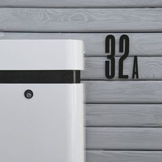 Now here is a cool number for your front door , wall or mailbox. Great for lots of other things too of course!Size: Hight 15 cmMaterial: AcrylicDesign by: The Danish Design Agency E-types in 2009.Please select your chosen number in in the pull down menu.