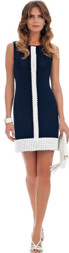 blue dress Luisa Spagnoli @roressclothes closet ideas women fashion outfit clothing style