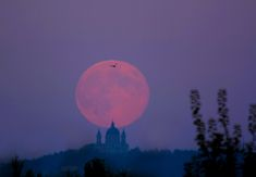 Harvest Moon over Turin