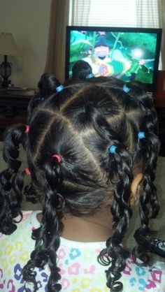 Lots of Twists Young Girls Hairstyles, Mixed Kids Hairstyles, Girls Natural Hairstyles, Baby Girl Hairstyles, Ethnic Hairstyles, Different Hairstyles, Pretty Hairstyles, Natural Hair Styles, Toddler Hairstyles