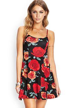 Wild Rose Skater Dress | FOREVER21 - 2000088285