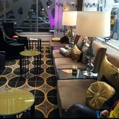 Another pic of the Wit Hotel lobby! Love the big lamps!