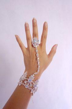 gorgeous diamond bracelet// slave bracelet // by LaceFancy on Etsy