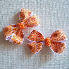 Itty Bitty Bow Pair  Boutique Bow Hair Clips with by IdleFingers, $3.50
