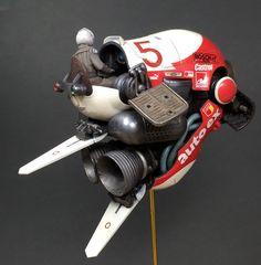A customized high-speed jet bike.