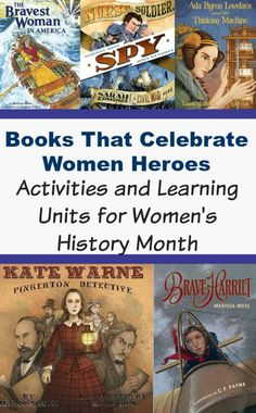 Books That Celebrate Women Heroes for Women's History Month. Lesson plans, activities and books that celebrate women heroes. History For Kids, Women In History, Ancient History, Teaching Kids, Kids Learning, Teaching History, Heroes Book, Learn Arabic Online, Reading Activities