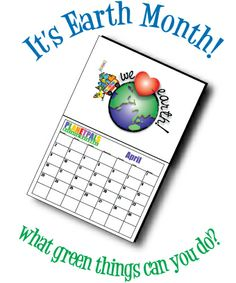 It's Earth Month - What #green thing can you do? #moms #dads #teachers