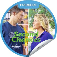 "Special GetGlue ""Premiere"" Promotion sticker from ""Second Chances"" Alison Sweeney's new Hallmark Movie with Greg Vaughn."