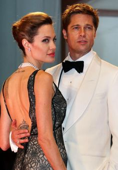 Angelina Jolie and Brad Pitt attend the The Assassination of Jesse James by the Coward Robert Ford premiere on the Day 5 of the 64th Annual Venice...