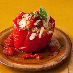 Slow Cooker Italian-Style Cheesy Stuffed Peppers