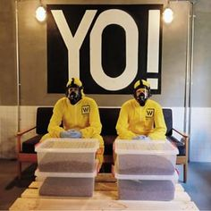 """If you didn't guess from the yellow suits, Walter's Coffee Shop is very dedicated to its Breaking Bad theme. 