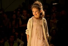 Twin-Set Girl showed some beautiful lace decorated soft chiffon dresses for girlswear summer 2014