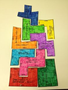 Area and Perimeter Tetris super idée pour mon cahier interactif Fun Math, Math Games, Math Activities, Math Math, Math Strategies, Math Resources, Math Teacher, Teaching Math, Teaching Ideas