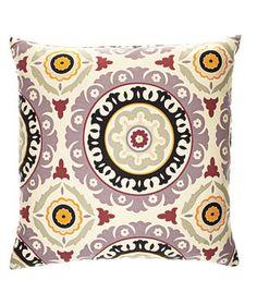 Solar cotton pillow (24 inches square), $70, zgallerie.com.