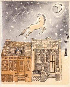 Kenny's Window: Maurice Sendak's Forgotten Philosophical Children's Book About Love, Loneliness, and Knowing What You Really Want – Brain Pickings Play Horse, Brothers Grimm Fairy Tales, Songs Of Innocence, Maurice Sendak, Classic Songs, Children's Book Illustration, Book Illustrations, Loneliness, Vintage Children
