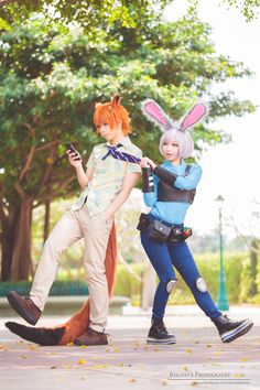 Zootopia - Nick Wilde, Judy Hopps Cosplay Photo - Cure WorldCosplay