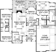 This 1900 sq ft plan is nice too. I like the separate master suite & bedrooms and the laundry right by Master.