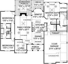Plan 2022ga Attractive Mid Size Ranch