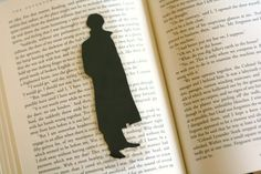 Sherlock Holmes  Handcut Silhouette Bookmark by GracefulDiligence