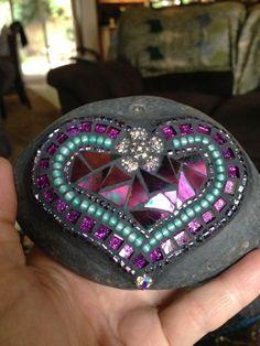Rock of Love mosaic by Moonjewelsandmosaics on Etsy, $35.00