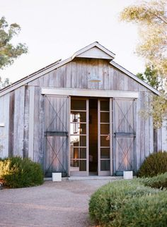 Barn conversion with giant doors